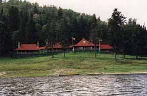 Fishing camp on the shores of the Restigouche
